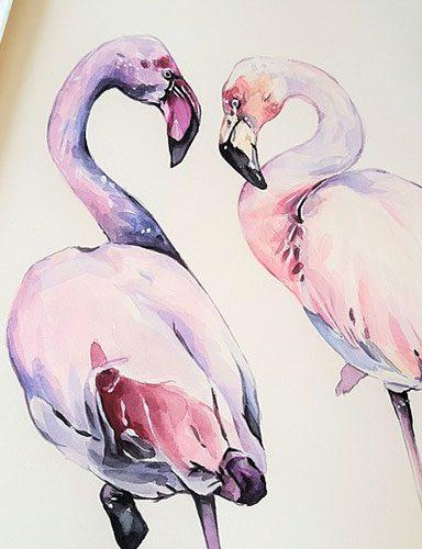 Making heron painting