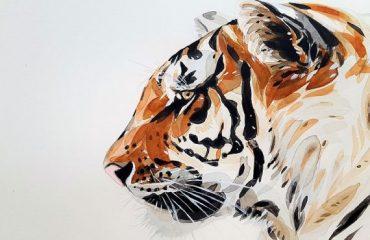 Making wild lion art